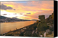 Mountain Trails Canvas Prints - Sunset At Horsetooth Dam Co. Canvas Print by James Steele