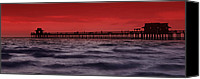 Sensuality Photo Canvas Prints - Sunset at Naples Pier Canvas Print by Melanie Viola