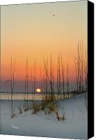 Gulf Of Mexico Canvas Prints - Sunset at Pensacola Pass Canvas Print by Richard Roselli