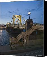 Clemente Canvas Prints - Sunset at Roberte Clemente Bridge Canvas Print by Dirk VandenBerg