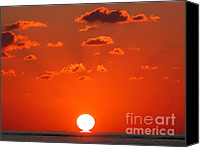Saudi Canvas Prints - Sunset at Sea Canvas Print by Graham Taylor