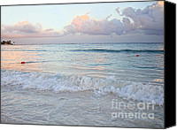 Renata Ratajczyk Canvas Prints - Sunset at the Beach Yucatan Peninsula Mexico Canvas Print by Renata Ratajczyk