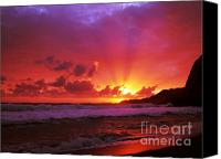 Azoren Canvas Prints - Sunset at the island Canvas Print by Gaspar Avila