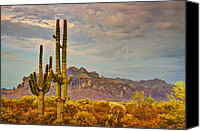 The Supes Canvas Prints - Sunset at the Superstitions  Canvas Print by Saija  Lehtonen