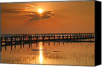 Chincoteague Canvas Prints - Sunset Bay I Canvas Print by Steven Ainsworth