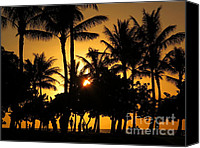 Ranjini Kandasamy Canvas Prints - Sunset by the Beach Canvas Print by Ranjini Kandasamy