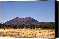 National Monument Canvas Prints - Sunset Crater Volcano National Monument Canvas Print by Christine Till