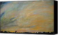 Storm Pastels Canvas Prints - Sunset Evening Sky Brfore Hurricane Andrew Canvas Print by Claire Decker