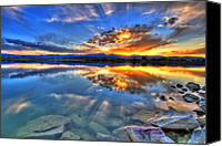 Loveland Canvas Prints - Sunset Explosion Canvas Print by Scott Mahon