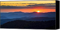 Gatlinburg Canvas Prints - Sunset from Clingmans Dome - Great Smoky Mountains Canvas Print by Dave Allen