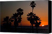 Clemente Photo Canvas Prints - sunset in Califiornia Canvas Print by Ralf Kaiser