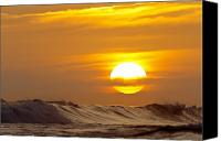 Clemente Photo Canvas Prints - Sunset in San Clemente Canvas Print by Quincy Dein - Printscapes