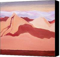Irene Corey Canvas Prints - Sunset Mountain Canvas Print by Irene Corey