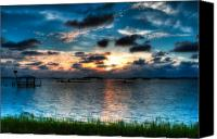 Florida - Usa Canvas Prints - Sunset on Cedar Key Canvas Print by Rich Leighton