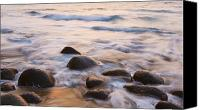 Kalalau Canvas Prints - Sunset on Ocean and Rocks Canvas Print by Quincy Dein - Printscapes