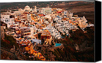 Thira Canvas Prints - Sunset on Santorini Canvas Print by Paul Cowan