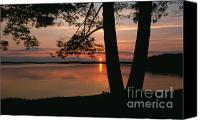 Door County Canvas Prints - Sunset on Sister Bay Canvas Print by Sandra Bronstein