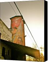 Feed Mill Canvas Prints - Sunset on the Mill Canvas Print by Sheep McTavish