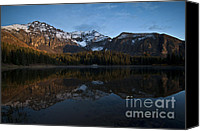 Snowy Canvas Prints - Sunset on the Mountains Canvas Print by Jeff Kolker