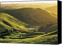 Mountain View Canvas Prints - Sunset Over Rolling Hills At Mountain View In The Strzelecki Ranges, Gippsland, Victoria, Australia Canvas Print by Peter Walton Photography