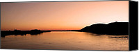 Danube Canvas Prints - Sunset over the Danube ... Canvas Print by Juergen Weiss