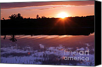 Loyola Canvas Prints - Sunset over the Island Canvas Print by Sophie Vigneault