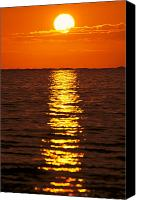 Water Art Canvas Prints - Sunset Reflections Canvas Print by Tomas del Amo - Printscapes