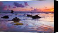 Beaches Canvas Prints - Sunset Ripples Canvas Print by Mike  Dawson