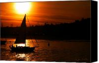 Bruster Canvas Prints - Sunset Sailing Canvas Print by Clayton Bruster