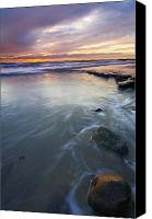 Sea Canvas Prints - Sunset Storm Canvas Print by Mike  Dawson