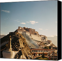 Tibetan Buddhism Photo Canvas Prints - Sunshine In Potala Canvas Print by Mona