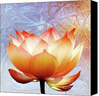 Lotus Canvas Prints - Sunshine Lotus Canvas Print by Photodream Art