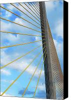 Florida Bridges Canvas Prints - Sunshine Skyway Bridge Angle Canvas Print by Amanda Vouglas