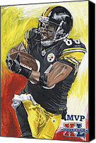 David Courson Canvas Prints - Super Bowl MVP Hines Ward Canvas Print by David Courson