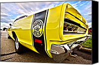 Bee Canvas Prints - Super Close Super Bee  Canvas Print by Gordon Dean II