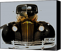 Antique Automobiles Digital Art Canvas Prints - Super Eight 1940 Packard  Canvas Print by Steven  Digman