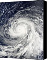 Natural Disasters Canvas Prints - Super Typhoon Choi-wan Over The Mariana Canvas Print by Stocktrek Images