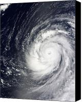 Natural Disasters Canvas Prints - Super Typhoon Choi-wan West Canvas Print by Stocktrek Images