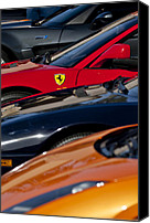 Automotive Photography Canvas Prints - Supercars Ferrari Emblem Canvas Print by Jill Reger