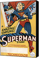 Superhero Canvas Prints - Superman, 1941 Canvas Print by Everett