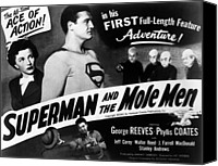 1950s Poster Art Canvas Prints - Superman And The Mole Men, Phyllis Canvas Print by Everett