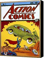 Comic Canvas Prints - Superman Comic Book, 1938 Canvas Print by Granger