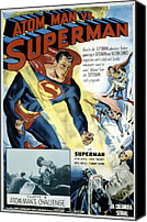 Postv Photo Canvas Prints - Superman, Serial, Kirk Alyn, Chapter 6 Canvas Print by Everett