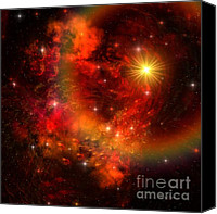 Solar Rings Canvas Prints - Supernova Canvas Print by Corey Ford