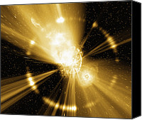 Grb Canvas Prints - Supernova Explosion, Computer Artwork Canvas Print by Mehau Kulyk
