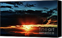 The Superstitions Canvas Prints - Superstition Sunrise Canvas Print by Saija  Lehtonen