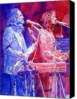 Rock Music Canvas Prints - Supertramp Canvas Print by David Lloyd Glover