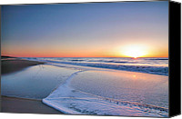 Assateague Canvas Prints - Surf And Sand III Canvas Print by Steven Ainsworth