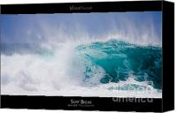 Surf Lifestyle Canvas Prints - Surf Break - Maui Hawaii Posters Series Canvas Print by Denis Dore