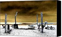 Clemente Digital Art Canvas Prints - Surf Camp at Trestles Canvas Print by Ron Regalado